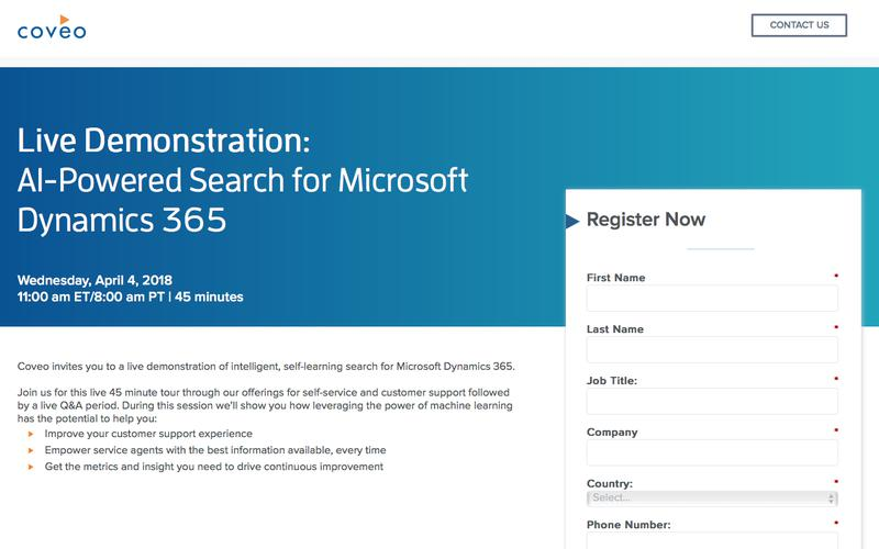 Live Demonstration: AI-Powered Search for Microsoft Dynamics