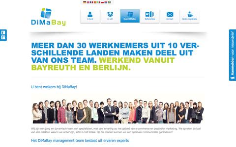 Screenshot of Team Page dimabay.nl - DiMaBay  - team - captured Oct. 5, 2014