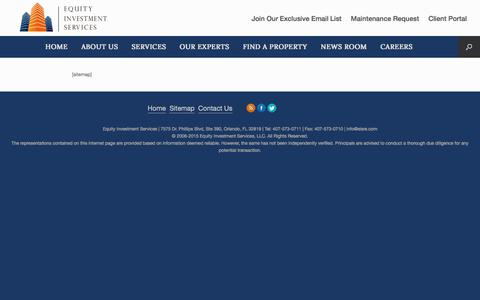 Screenshot of Site Map Page equityinvestmentservices.com - Sitemap – Equity Investment Services - captured July 20, 2018