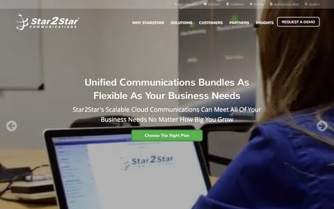 Screenshot of Home Page star2star.com - Star2Star: World's Most Scalable Cloud Communications Solution - captured Feb. 2, 2016