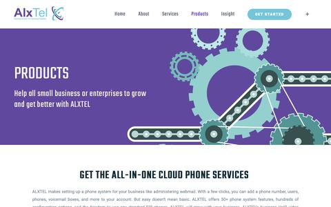 Screenshot of Products Page alxtel.com - Products – Convenience in communication - captured Nov. 6, 2018