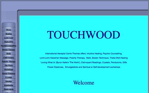 Screenshot of Home Page touchwoodspirit.com - Touchwood for health - captured May 24, 2016