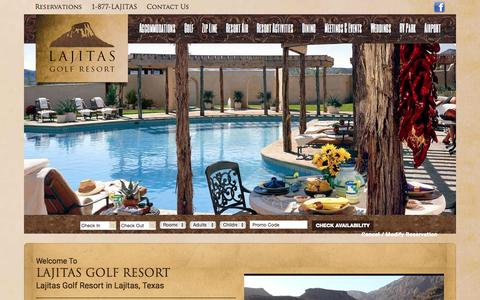 Screenshot of Home Page lajitasgolfresort.com - Lajitas Golf Resort in the Big Bend of Texas - captured Oct. 20, 2015