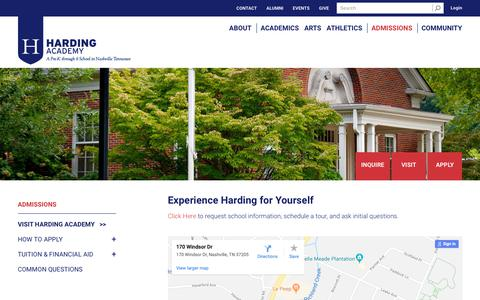 Screenshot of Maps & Directions Page hardingacademy.org - Harding Academy |  Visit Harding Academy - captured Sept. 27, 2018