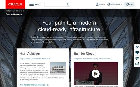 Enterprise Servers | Oracle