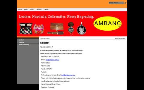 Screenshot of Contact Page ambanc.com.au - Contact - captured Oct. 4, 2014