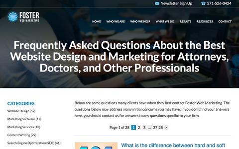Web Marketing FAQs for Attorneys, Doctors & Small Businesses | Foster Web Marketing