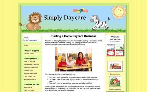 Screenshot of Home Page simplydaycare.com - Simply Daycare... making home daycare simple - captured Dec. 4, 2016