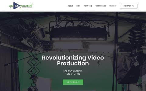 Screenshot of Home Page gonetyourself.com - GoNetYourself.com | Corporate Video Production and Editing Services - captured July 13, 2018