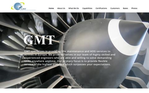 Screenshot of Home Page gmt.is - GMT - Ground Maintenance Technics - captured Sept. 26, 2018