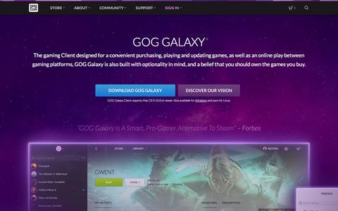 Screenshot of About Page gog.com - GOG.com - captured June 20, 2017