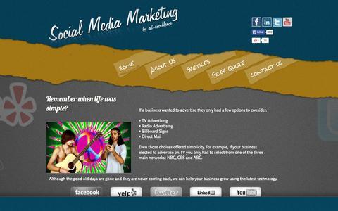 Screenshot of Home Page social-media-marketing.us.com - Social Media Marketing - South Florida Social Media Marketing Company - captured Oct. 6, 2014