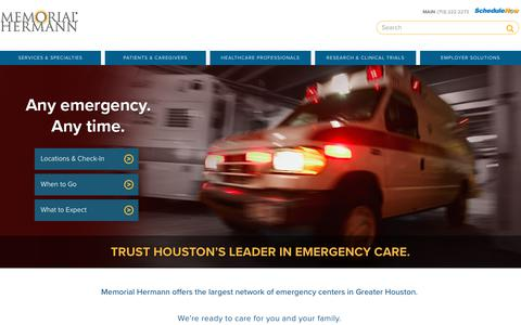 Memorial Hermann Emergency Rooms