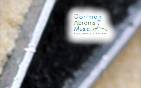 Screenshot of Home Page dorfman.com - Dorfman Abrams Music - captured Oct. 5, 2014