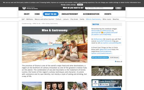 Screenshot of Products Page costabrava.org - Gastronomy | Costa Brava Girona Pyrenees - captured Nov. 11, 2018