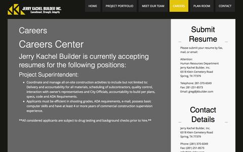 Screenshot of Jobs Page jkbuilder.com - Careers - captured Feb. 11, 2016