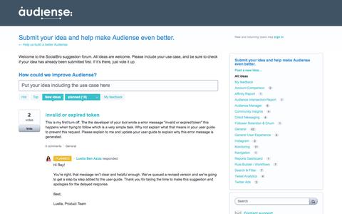 Submit your idea and help make Audiense even better.: planned (10 ideas) – Help us build a better Audiense