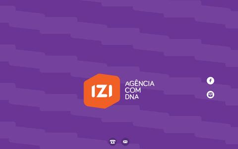 Screenshot of Home Page izi.ag - iZi - Agência com DNA - captured Jan. 21, 2015