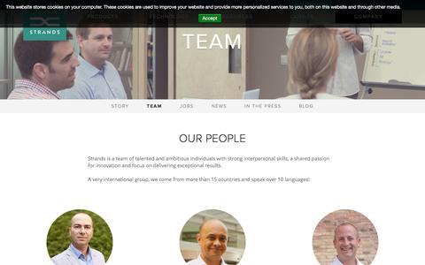 Screenshot of Team Page strands.com - Team - Strands Finance - captured April 7, 2017