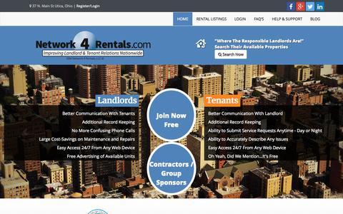 Screenshot of Home Page network4rentals.com - Property Rental Software Program - Network4Rentals : Property Management Software | Network4Rentals - captured Aug. 13, 2015