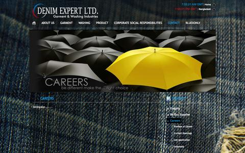 Screenshot of Jobs Page denimexpert.com - Career :: Denim Expert :: - captured Sept. 30, 2014