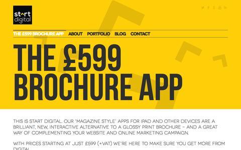 Screenshot of Home Page startdigitalpublishing.com - Start Digital - captured Oct. 7, 2014