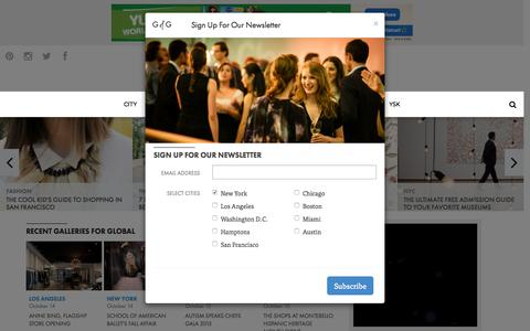 Screenshot of Home Page guestofaguest.com - Global | Guest of a Guest - People, Places, Parties & Nightlife - captured Oct. 15, 2015