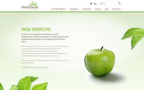 Screenshot of Home Page medthinkscicom.com - Scientific Communications Agency | MedThink SciCom Medical Communications - captured Sept. 30, 2014