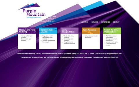 Screenshot of Home Page pmtechgroup.com - Purple Mountain Technology Group | - captured Oct. 3, 2014