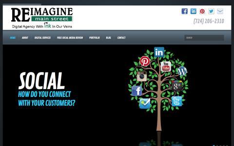 Screenshot of Home Page reimaginemainstreet.com - Home - Reimagine Main Street - captured Oct. 7, 2014