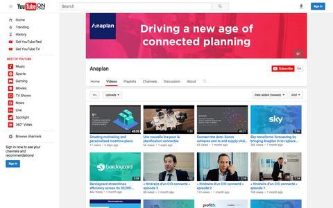 Anaplan  - YouTube