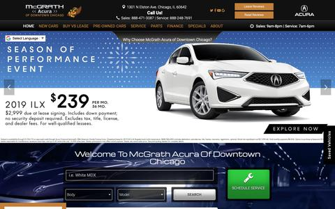 Screenshot of Home Page mcgrathacuraofdowntownchicago.com - McGrath Acura of Downtown Chicago | Acura and Used Car Dealer - captured Nov. 15, 2018