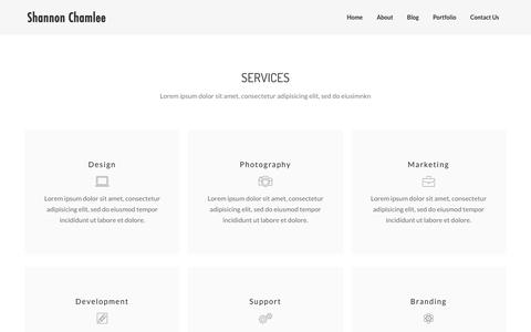 Services – Shannon Chamlee