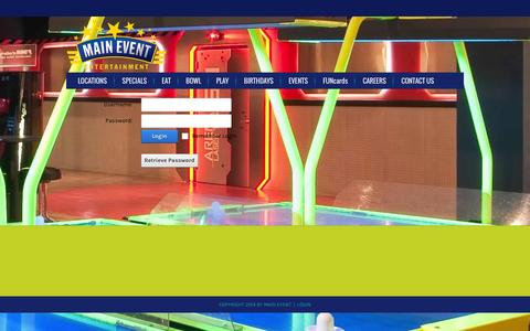 Screenshot of Login Page mainevent.com - User Log In - captured Oct. 27, 2014