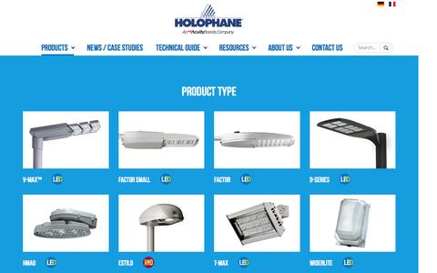 Screenshot of Products Page holophane.co.uk - Products | Holophane - captured Nov. 11, 2016