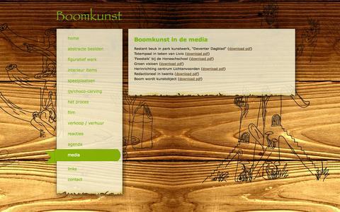 Screenshot of Press Page boomkunst.nl - Media - Boomkunst - captured Oct. 5, 2014