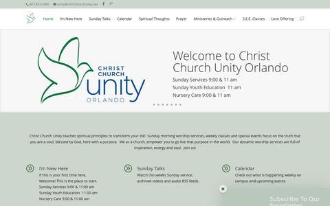 Screenshot of Home Page christchurchunity.net - Home - Christ Church Unity - captured June 17, 2015