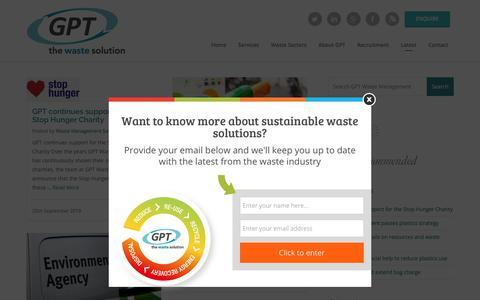 Screenshot of Blog gptwaste.com - Blog - GPT Waste Management - captured Sept. 26, 2018