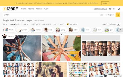 Screenshot of Team Page 123rf.com - People Stock Photos And Images - 123RF - captured June 14, 2019