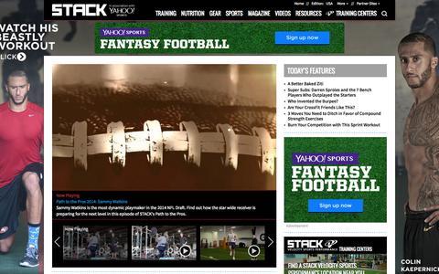 Screenshot of Home Page stack.com - Get Bigger, Stronger, Better, Faster | STACK - captured Sept. 18, 2014