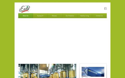 Screenshot of About Page eva.com.pk - About EVA - 100% Pure Cooking Oil - captured Dec. 3, 2016