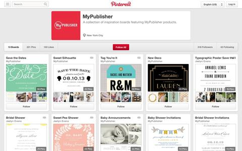 Screenshot of Pinterest Page pinterest.com - MyPublisher on Pinterest - captured Oct. 22, 2014