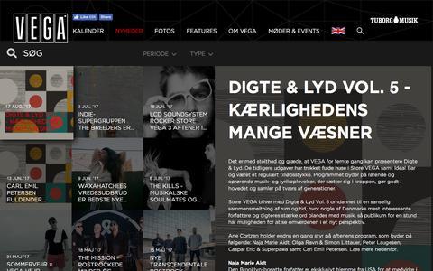 Screenshot of Press Page vega.dk - VEGA   Musikkens hus - captured Aug. 18, 2017