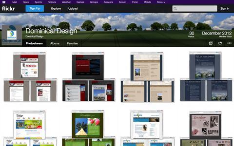 Screenshot of Flickr Page flickr.com - Flickr: Dominical Design's Photostream - captured Oct. 25, 2014