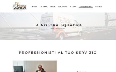 Screenshot of Team Page aromaexpresso.it - La nostra squadra - Aroma Expresso - captured Oct. 4, 2018