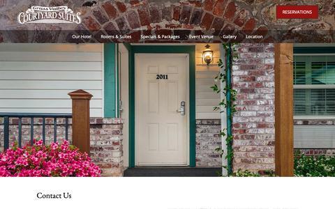 Screenshot of Contact Page gvcourtyardsuites.com - Contact Us - Grass Valley Courtyard Suites - captured Sept. 30, 2018