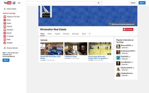 Screenshot of YouTube Page youtube.com - Windwalker Real Estate  - YouTube - captured Nov. 5, 2014