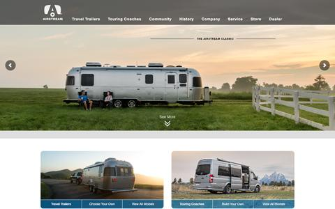 Screenshot of Home Page airstream.com - Airstream USA, Airstream Travel Trailer, Silver Bullet | Airstream - captured May 13, 2016