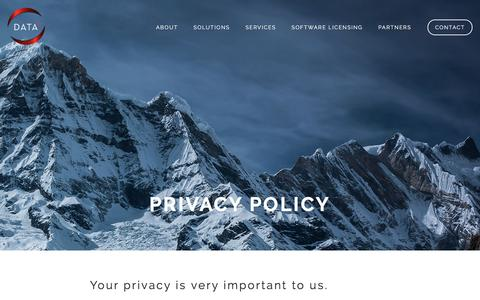 Screenshot of Privacy Page data41.com - Privacy Policy - Data41 - captured Aug. 1, 2016