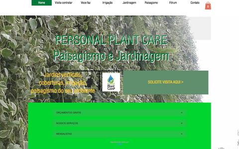 Screenshot of Home Page personalplantcare.com.br - Parede Verde | Vila Mariana | Personal Plant Care Jardim Vertical - captured July 17, 2018